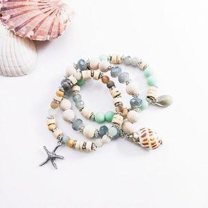 Jewelry - Seashell Beachy Bracelet Set
